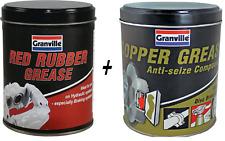 Granville Anti Seize Copper Grease 500g & Red Rubber Grease 500g BRAKE SERVICE