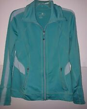 Tangerine brand Jade Green Zip Front Workout Jacket Knit Ladies M/M used Gently
