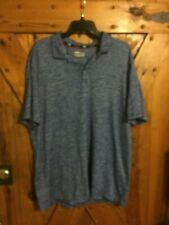 New Men's Fila Sport Live In Motion Polo Shirt Size Xl Blue Polyester Spandex
