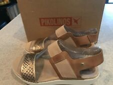 Pikolinos Women's Mykonos W1G-0759 NUDE Goldenpink Leather & Elastic Band New