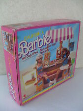 barbie california hot dog stand bancarella playset banco panini 1987 NRFB 4463
