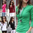 Women's Long Sleeve Cotton T-Shirt Slim Ladies Tops Blouse Sweater S/M/L/XL/XXL