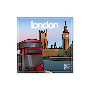 Aufkleber London Stadt Koffer Sticker Reise Gepäck Auto Laptop Länder Welt