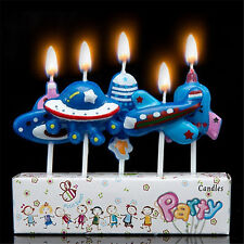 SPACESHIPS Rocket UFO Novelty Birthday Cake Candle Candles Topper Figure
