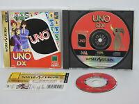 UNO DX + Omake CD Sega Saturn with SPINE * Japan ss