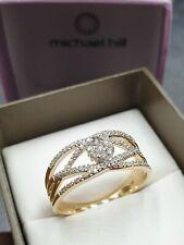 MICHAEL HILL 10ct Yellow Gold Ring Diamond Size O - 7.5 MHJ 10K