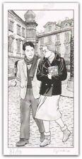 Ex-libris GIARDINO Promenade a deux 99ex signé 14x28