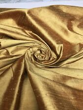 "Rust 100% Dupioni Silk  Fabric 54"" Wide Sold By The Yard"
