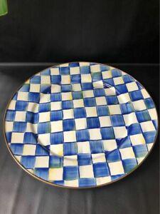 "Mackenzie-Childs Royal Check Large Serving Platter, 16"""