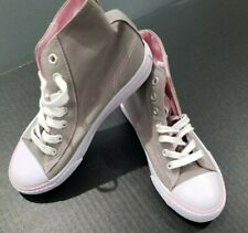 NEW !! GIRLS GRAY/PINK HIGHTOP SNEAKERS SIZE 3