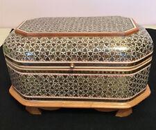 More details for vintage sadeli mosaic anglo indian casket