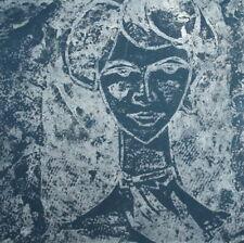 Vintage woman portrait expressionist print
