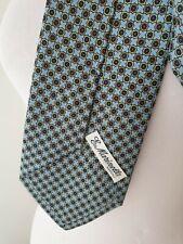 Marinella Napoli cravatta celeste con fiori