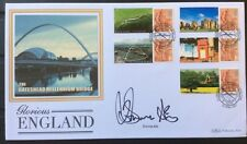 23.4.2007 Glorious England FDC Gateshead Bridge Signed DONNA AIR, Dancing On Ice