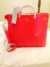 LACOSTE LARGEPINK TOTE,NEW WITH TAGS AND STILL IN ORIGINAL LACOSTE PLASTIC BAG