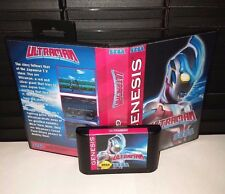 Ultraman - Fighting Video Game for Sega Genesis! Cart & Box