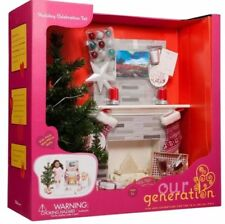 """Our Generation Holiday Celebration set fit 18"""" American girl doll christmas tree"""