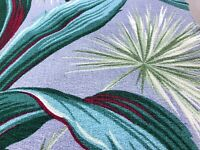 Hollywood Palms Barkcloth Vintage Fabric 1930's Deco with Tropical Starbursts