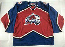 Colorado Avalanche CCM Hockey Jersey Red Blue Vintage 1990s - Size XL