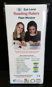 Reading Rulers Plain Window - pk of 30