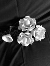 Lampadario vintage in ceramica bianca