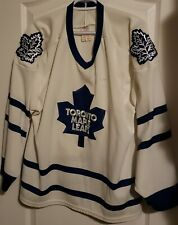 NHL EDDIE SHACK Signed TORONTO MAPLE LEAFS CCM Away White Jersey Size: Large