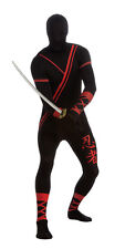 2nd SKIN NINJA FULL-BODY STRETCH JUMPSUIT ADULT HALLOWEEN COSTUME SIZE LARGE