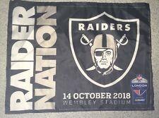 RAIDERS v SEAHAWKS  NFL WEMBLEY, LONDON, ENGLAND 2018 FAN FLAG