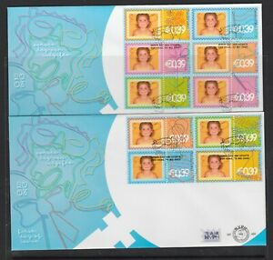 NETHERLAND - 2003 GREETING STAMPS complete set of 10 VF Used on TWO FDCs - face