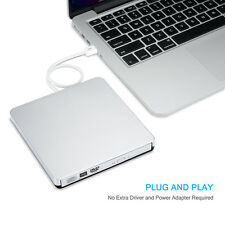 External Hard Drive CD/DVD-RW Burner Writer Drive for Laptop MacBook PC Computer