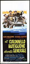 IL COLONELLO BUTTIGLIONE DIVENTA GENERALE LOCANDINA CINEMA FILM 1970 PLAYBILL