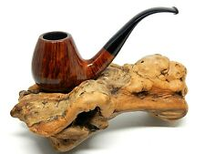 "W.O. LARSEN ""STRAIGHT GRAIN"" HIGH GRADE ""0 9"" SWAN NECK BENT BRANDY"
