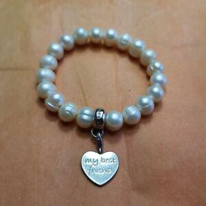 Thomas Sabo Pearl Bracelet With Best Friend Charm
