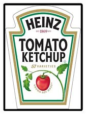 Heinz Tomato Ketchup, Retro metal Sign/Plaque Wall vintage / Kitchen Gift
