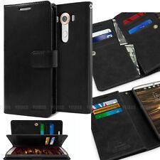 Double Slot Flip book [Multi Slots] Leather Wallet Case For Samsung Apple LG