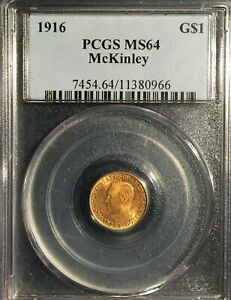 1916 McKinley Gold Dollar == MS-64  PCGS ==   Great Buy=== !