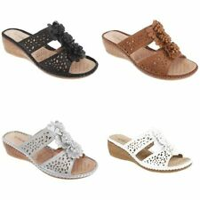 Floral Wedge Slides Sandals & Beach Shoes for Women