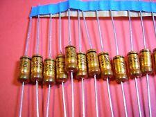 20x 10uF 25V (5x11) 105C AXIAL ROEDERSTEIN GOLD