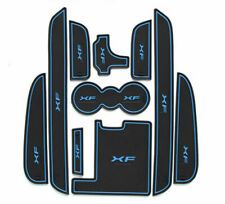 10Pcs XF Car Gate Slot Mats Door Grvooe Cup Holder Mat Blue Brim For 2011-15 XF
