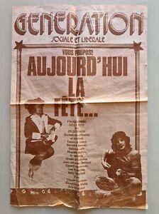Programme de la Fête du 25 octobre 1975 GÉNÉRATION SOCIALE ET LIBÉRALE / G.S.L