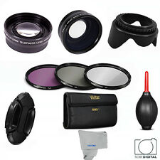 58mm WIDE ANGLE+MACRO+2X TELEPHOTO +FILTER KIT+GIFTS FOR CANON REBEL T5 T5I T3I