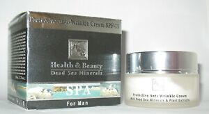H&B 50 ml 1.76 oz Anti wrinkle Face Cream For Men Man Dead Sea Minerals