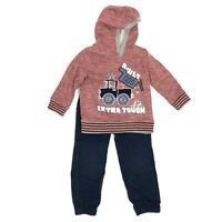 KID'S HEADQUARTERS Toddler Boy Size 3T Hooded Sweater Top Pants Set Outfit