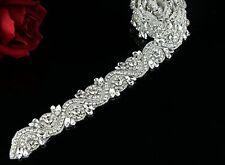 Crystal Rhinestone Imitation Pearl Applique For Wedding Bridal Dress Accessory