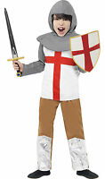 Boys Kids Childs Medieval Knight Crusader St George Smiffys Fancy Dress Costume