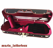 4/4 Pro. Enhaced Wooden Black Violin Case-I + free violin string - Limited