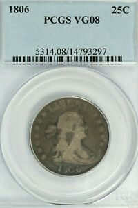 1806 Draped Bust Quarter : PCGS VG08