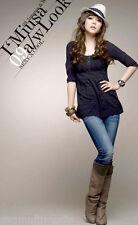 Japan Korean fashion sexy black dress top XS, S lacey mini short
