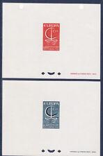 épreuve de luxe  paire Europa   de  1966   num: 1490/91