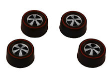 4 Brightvision Redline Wheels - 4 Medium Deep Dish Dull Chrome Style